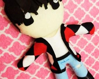 "Kpop BTS Jungkook inspired plushie plush toy doll ""Fire"" MV Version"