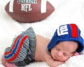 New York Giants Baby Outfit, Newborn baby NY Giants football helmet pant set, Baby Football Giants Set, Baby Football Photo Prop, Baby Set
