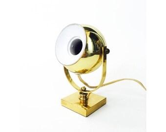 Vintage Brass Eyeball Spot Lamp