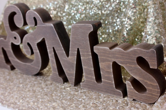 Sale MR & MRS SIGN Rustic Wooden Wood Free Standing Shabby Chic ...