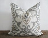 Pillow Cover Linen Cotton Tribal Ikat by Covington Both Sides Zipper