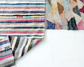 "Vintage Moroccan Kilim - BOUCHEROUITE Rug ""Strips"""
