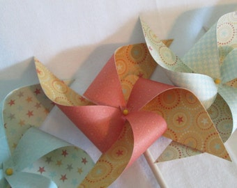 Pinwheels in Cowboy or Cowgirl Designs Set of 8 Pinwheels Perfect for a Birthday Party or a Baby Shower or a Bat Mitzvah or Wedding