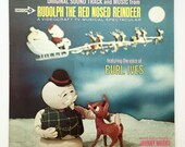 """Rare """"Rudolph the Red Nosed Reindeer"""" Vinyl Soundtrack (1964) - Very Good Condition"""
