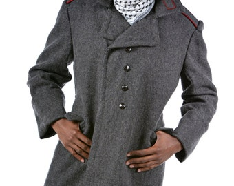 1970's REDESIGNED/ REVAMPED Bulgarian Army MILITARY Style Vintage Wool Coat / Overcoat by Top Rank Vintage ( Unissued / Never Worn)