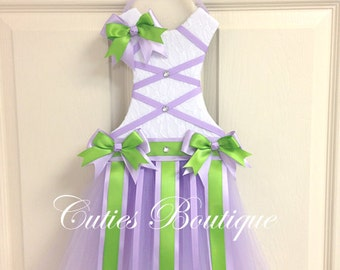 Lavender GreenTutu Dress Hair Bow Holder Perfect Gift For Birthday Baby Shower It's a Girl