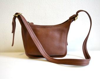 SALE Cognac Coach Shoulder Bag