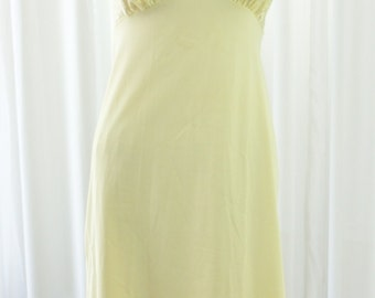 Van Raalte Yellow Dress Slip Old Stock New Vintage Sheer Lace Bodice Circa 1950's