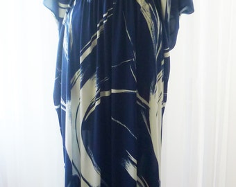 Greenecastle Navy White Maxi Dress New Old Stock Unworn U.S.A. Made