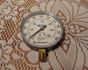 Industrial Pressure Gauge -  Viking-Ashcroft Fire Protection Gauge