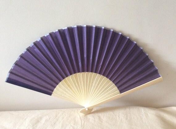 Regency/Victorian Style Fan. Purple. Bridal Favour.