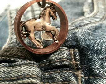 Copper Horse Necklace Equine Jewelry Country Girls Country Western Teen Gift Women Tween