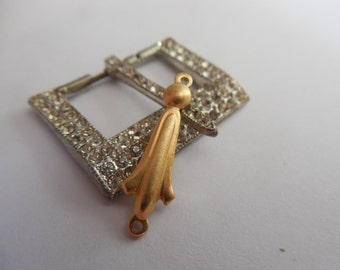 Brass Deco Fluer Connector Solid Stamping Link Relic Charm