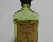 Vintage ROYALL LYME Toilet Water Crown Top Miniature Perfume Bottle Full    NAZ13