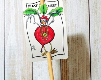 Vegetable Marker Beet for Gardens Decor Aluminum Sign Urban Farming Phat Beat Spring