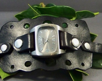 Leather Watch ( Dots)