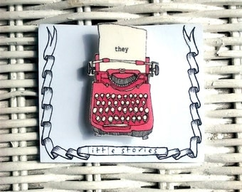 They Typewriter pin
