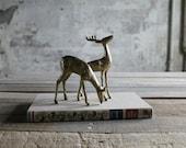 Pair of Vintage Brass Deers