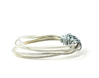 Guitar String Ring Music Lovers Gift Ecofriendly Mens Womens Jewelry Wire Wrapped Recycled Guitar Strings