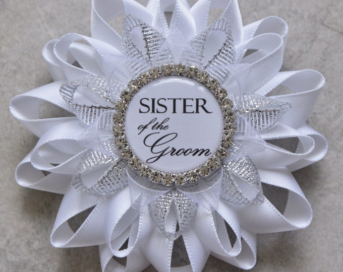 Sister of the Groom Gift, Sister of the Bride Gift, Sister of Groom, Maid of Honor, Matron of Honor Gift, Bridal Shower Corsage Pins