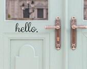 Hello Door Decal - Door Decals - Door Stickers - Door Decal - Door Signage - Hello Stickers - front door decal - Entryway Decor - Wall Decor
