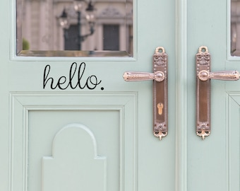Hello Door Decal - Door Decals - Door Stickers - Door Decal - Door Signage - Hello Stickers - front door decal - Entryway Decor - Wall Decor