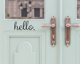 Hello Door Decal   Door Decals   Door Stickers   Door Decal   Door Signage