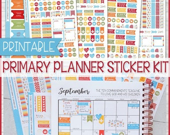 2017 Primary PLANNER STICKER KIT Printables, Made 2 Match 2017 Primary Presidency Planner, lds Planner, Choose the Right - Instant Download