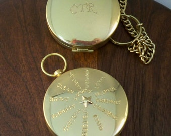 Custom engraved Compass,