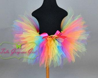 Adult Women's Candyland Rainbow Tutu...Fun Run Tutus...Racing Tutu...Rainbow Clown Tutu...Rainbow Fairy Tutu . . . CANDYLAND