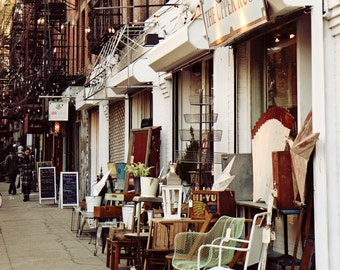New York City Photography - East Village NYC Photo - Upper Rust Print - Neutral Brown Photograph Urban Home Decor Fall Office Wall Art