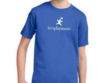 Youth letsplaymusic standard tshirt LPM logo