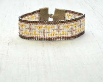 Hippie Bracelet - Seed Bead Bracelet - Beaded Bracelet - Womens Bracelet - Adjustable Bracelet- Boho Bracelet - Hippie Jewelry
