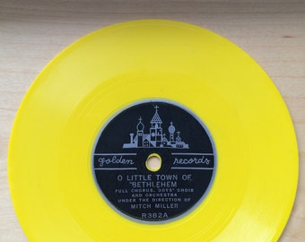 Vintage Golden Records x2: O Little Town of Bethlehem and March from Peter and the Wolf 1950s