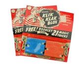 Vintage Klik Klak Blox 1960s Toy Magic Tricks Alphabet Creative Educational Toys Building Blocks NOS 2 Available Buy One or Both