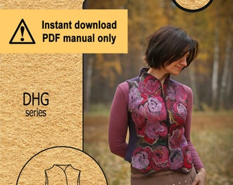 Dhg.1 / PDF tutorial / Short vest with stand collar