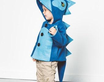 Blithe Blue Dinosaur Coat
