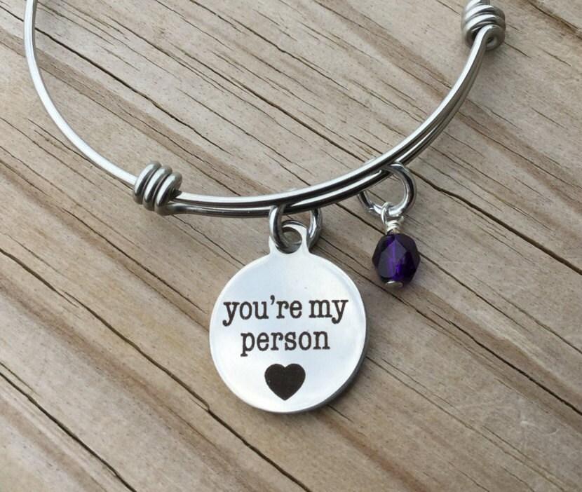 friendship charm bracelet you re my person
