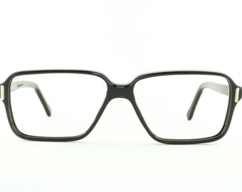 Vintage Deadstock 60's E.I. Eyeglass Frames France in Black - FREE Domestic Shipping