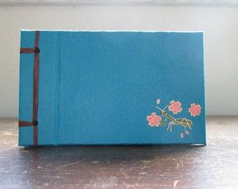 Mini Mantis Book - Sakura or Maple - Side Bound Hardcover Handmade Blank Book