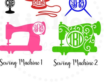 Sewing Monogram Vinyl Decal Sewing Machine Thread Mannequin Needle  for Yeti, Cups, Laptop, Car, and more!