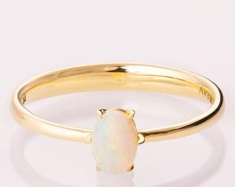 Opal engagement ring, Unique Engagement ring, Opal ring, Oval Opal Ring, Unique Opal Ring, Comfort Fit Opal Ring, Australian Opal