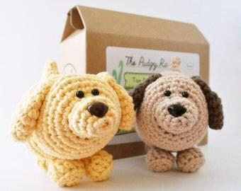 Dog Crochet Kit, Amigurumi Kit, DIY Kit, Learn to Crochet, Amigurumi Pattern