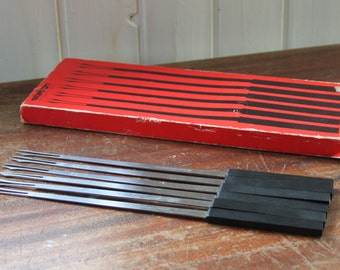 Set of six Stelton Foundue Forks / 1977 by Peter Holmblad