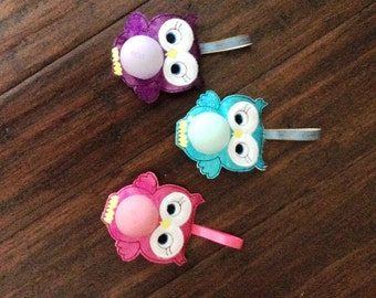 EOS Owl Lip Balm Holder, Key Chain, Chap stick Holder