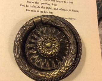 Vintage Drawer Pull - Altered Art, Mixed Media, Assemblage