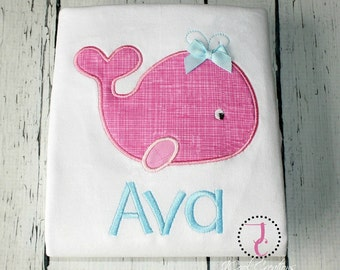 Whale Shirt - Baby Coming Home Outfit, Whale Birthday, Whale Party, Whale Baby Shower, Sea World Shirt, Birthday Outfit, Summer Baby