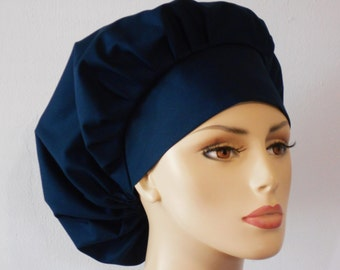 Medical Bouffant Surgical Scrub Hat - Solid Kona Cotton You Choose The Color Dark Color Group
