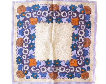 1960s Silk Pocket Square