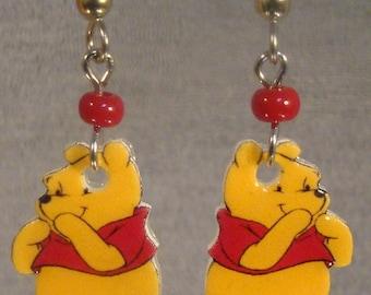 Winnie the Pooh Cartoon Dangle Earrings - surgical steel